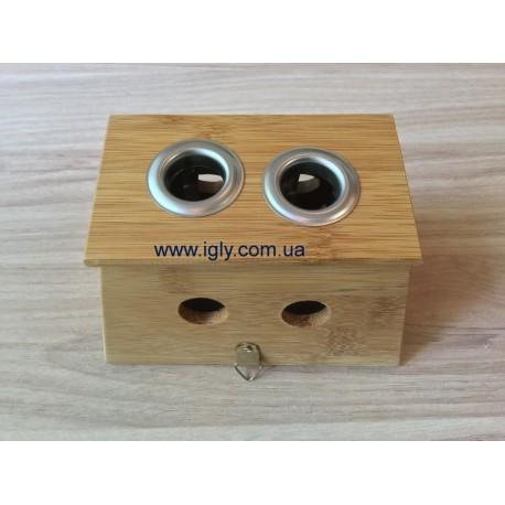 Бамбукова коробка на 2 сигари