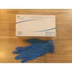 Перчатки медицинские нитриловые Polix PRO&MED в пачке Sky Blue