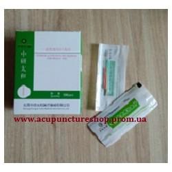 Иглы для рефлексотерапии Zhongyantaihe с медной ручкой 0.25*25мм, 10 шт.