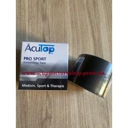 Кинезио тейп AcuTop Pro Sport, 5 см x 5 м, цвет -черный