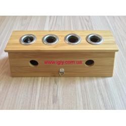 Бамбукова коробка на 4 сигари