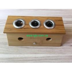 Бамбукова коробка на 3 сигари